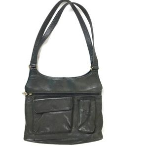 Fossil Shoulder Bag Black Leather 75082